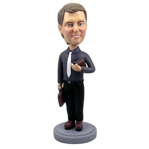 Photo of Businessman/Teacher With Briefcase & Book Bobblehead