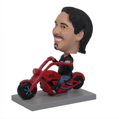 Photo of Man Riding Chopper Motorcycle Bobblehead