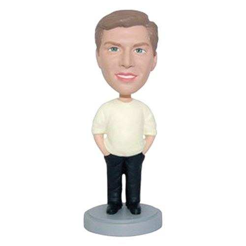 Photo 1 of Relaxed Male With Hands In Pockets Bobblehead