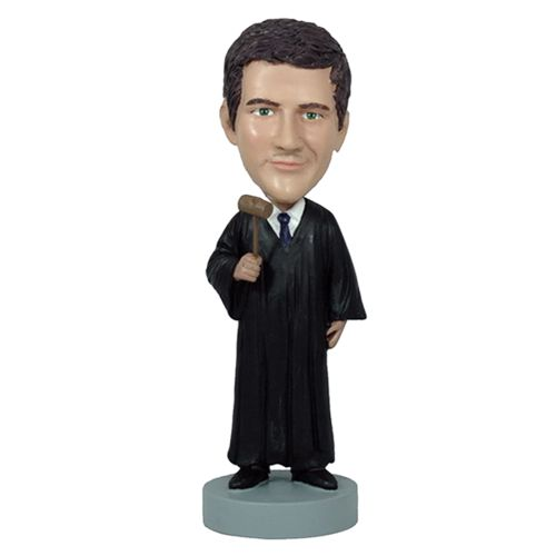 Photo 1 of Judge With Gavel Bobblehead