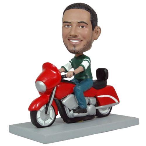 Photo of Man On Motorcycle Bobblehead