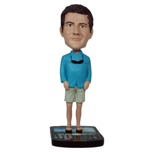 Photo 1 of Casual Male On Mobile Phone Base Bobblehead