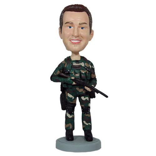 Photo of Military Camoflage Bobblehead