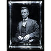 Abraham Lincoln 3D Small Laser Crystal 5x8 cm