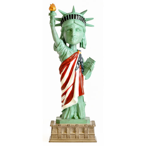 Photo 1 of Statue of Liberty - American Flag Version Bobblehead