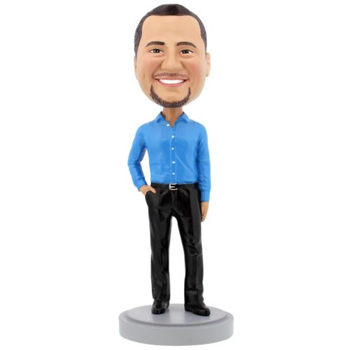 Photo of Slender Male Executive with Hand in Pocket - Premium Figure Bobblehead