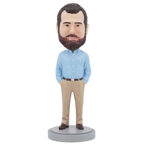 Photo of Business Casual Male A - Premium Figure Bobblehead