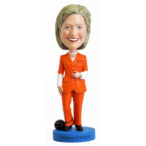 Photo 1 of Hillary Clinton Orange Prison Pantsuit Bobblehead