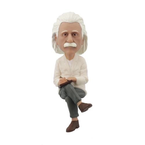 Photo of Albert Einstein Computer Sitter