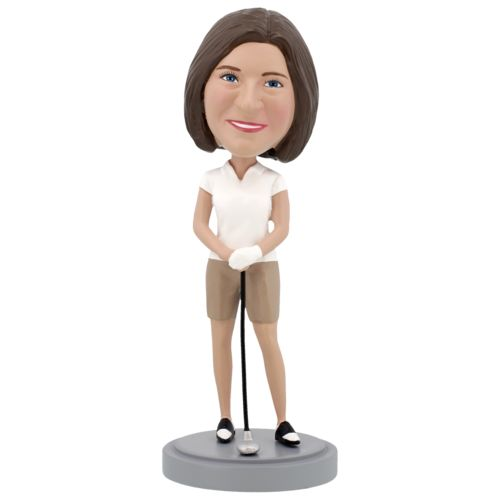 Photo of Female Golfer - Premium Figure Bobblehead