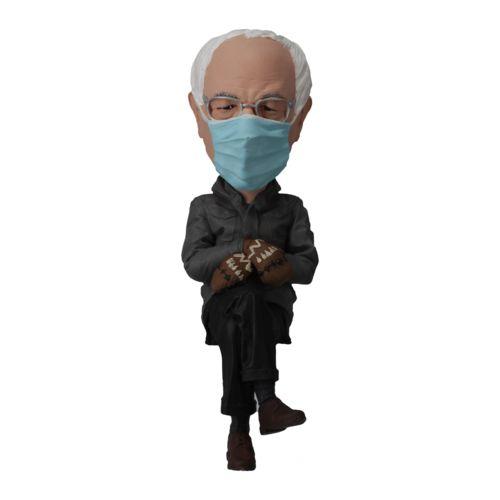 Photo of Bernie in Mittens Computer Sittin' Bobblehead
