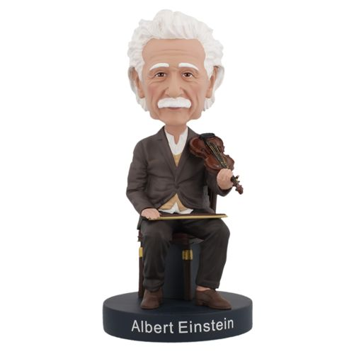 Photo of Albert Einstein Violin Bobblehead