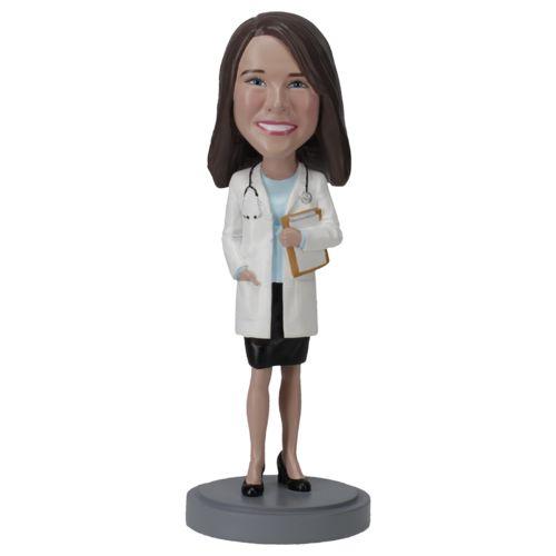Photo of Female Doctor In Skirt - Premium Figure Bobblehead