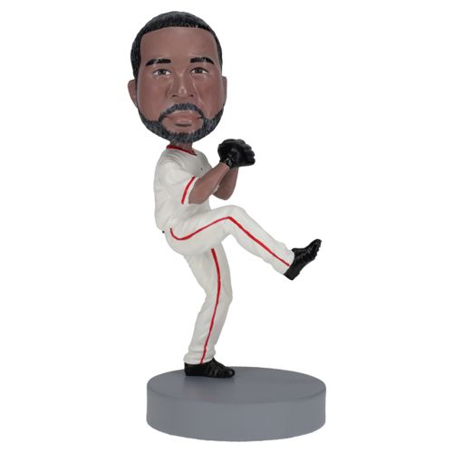Photo of Left Handed Baseball Pitcher - Premium Figure Bobblehead
