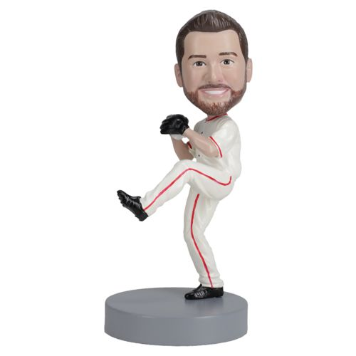 Photo of Right Handed Baseball Pitcher - Premium Figure Bobblehead
