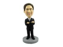 Male Executive With Arms Crossed Bobblehead - Bobbleheads.com