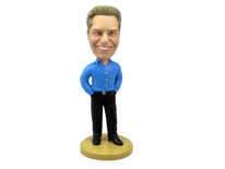 Man Dressed In Business Casual Bobblehead - Bobbleheads.com