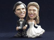 Bride and Groom In Classic Pose Bobblehead - Bobbleheads.com