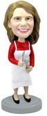 Female Cook In Apron Bobblehead - Bobbleheads.com