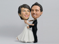 Bride and Groom First Dance Bobblehead - Bobbleheads.com