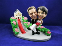 Groom Carries Bride At Church Bobblehead - Bobbleheads.com