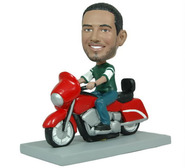 Man On Motorcycle Bobblehead - Bobbleheads.com