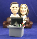 Couple Playing Video Games Bobblehead - Bobbleheads.com