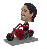 Man Riding Chopper Motorcycle Bobblehead - Bobbleheads.com