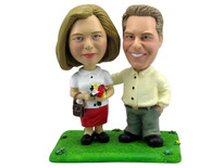 Conservative Couple Bobblehead - Bobbleheads.com