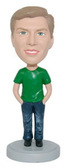 Male In Jeans With Hands In Pockets Bobblehead - Bobbleheads.com