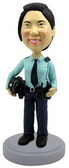 Female Police Officer Bobblehead - Bobbleheads.com