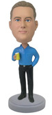 Casual Male With Drink Bobblehead - Bobbleheads.com