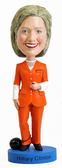 Hillary Clinton Orange Prison Pantsuit Bobblehead - Bobbleheads.com