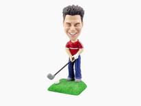 Golfer With Club Bobblehead - Bobbleheads.com