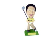 Golfer Swinging His Club Bobblehead - Bobbleheads.com