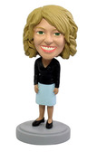 Female Business Casual Bobblehead - Bobbleheads.com