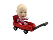 Baby In A Wagon Bobblehead - Bobbleheads.com