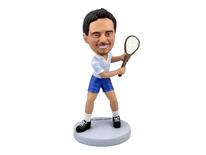 Tennis Player In Backswing Bobblehead - Bobbleheads.com