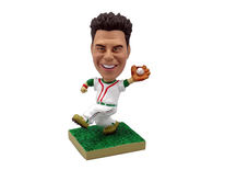 Baseball Player Catching the Ball Bobblehead - Bobbleheads.com