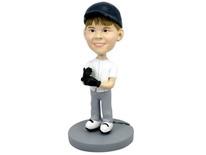 Child Baseball Player Bobblehead - Bobbleheads.com