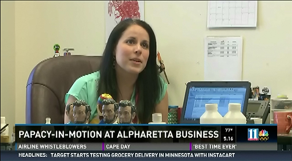 Papacy in motion at Alpharetta business