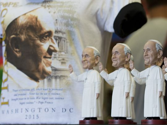 Why a plush doll is a pope visit souvenir